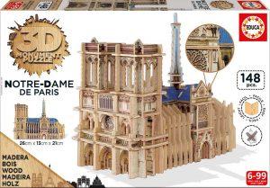 Puzzle de madera Educa 3D Catedral Notre Dame de París 148 Piezas