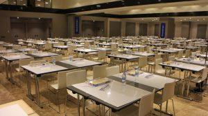sala dispuesta para el Campeonato nacional puzzles