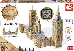Puzzle de madera Educa 3D Big Ben y Parlamento de Londres de 156 Piezas