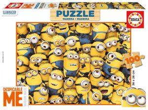 Puzzle de madera Educa Minions 100 Piezas