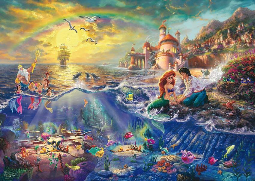 Puzzle Schmidt La Sirenita, Ariel de 1000 Piezas