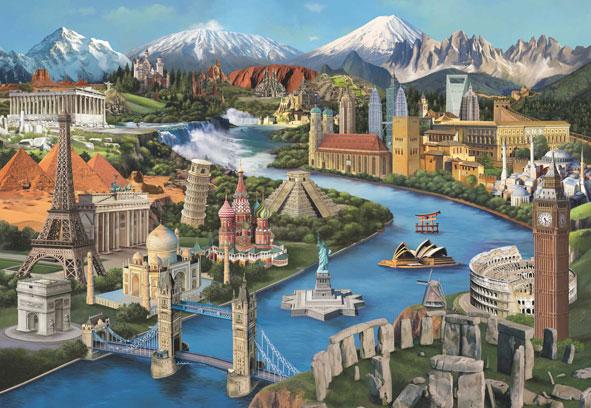 Puzzle Anatolian Monumentos del Mundo de 2000 Piezas