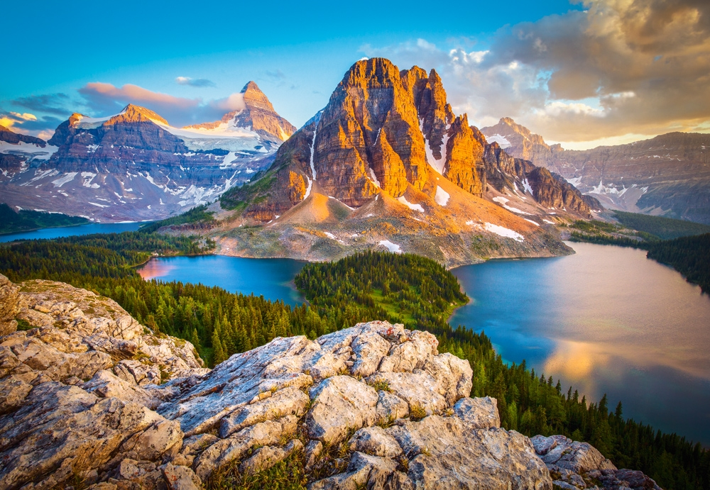 Puzzle Castorland Vista Parque Nacional Banff, Canadá 1000 Pieza