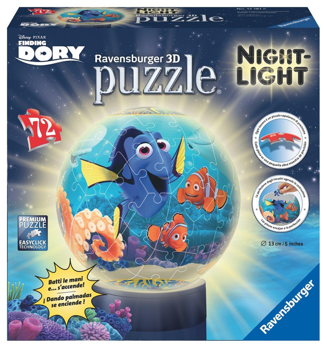 Puzzle Ball Lámpara Ravensburger Buscando a Dory 3D 72 Piezas
