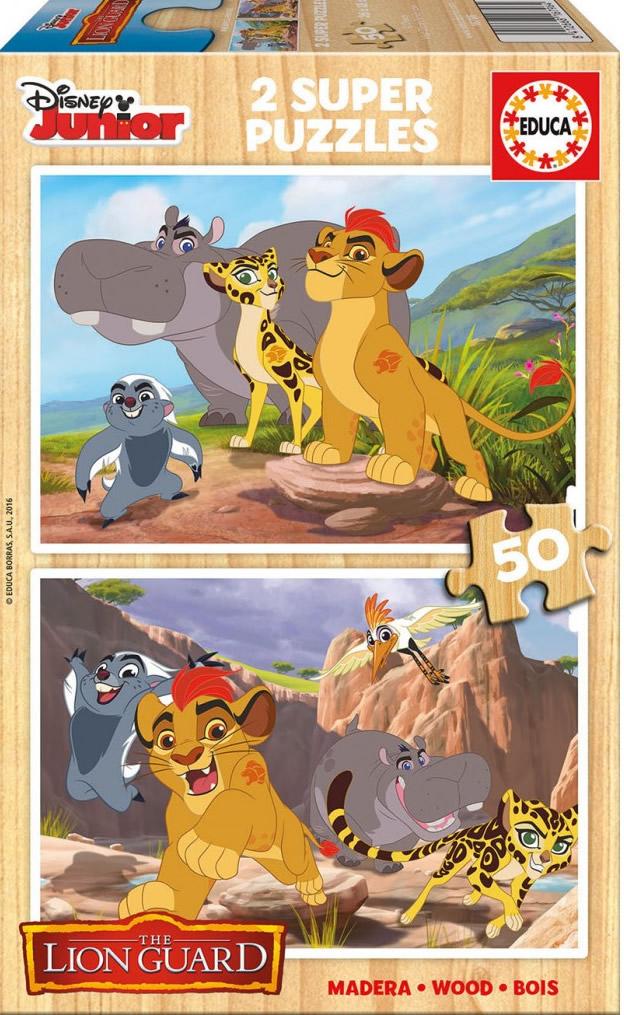 Puzzle Educa La Guardia del León, Rey León 2 x 50 Piezas