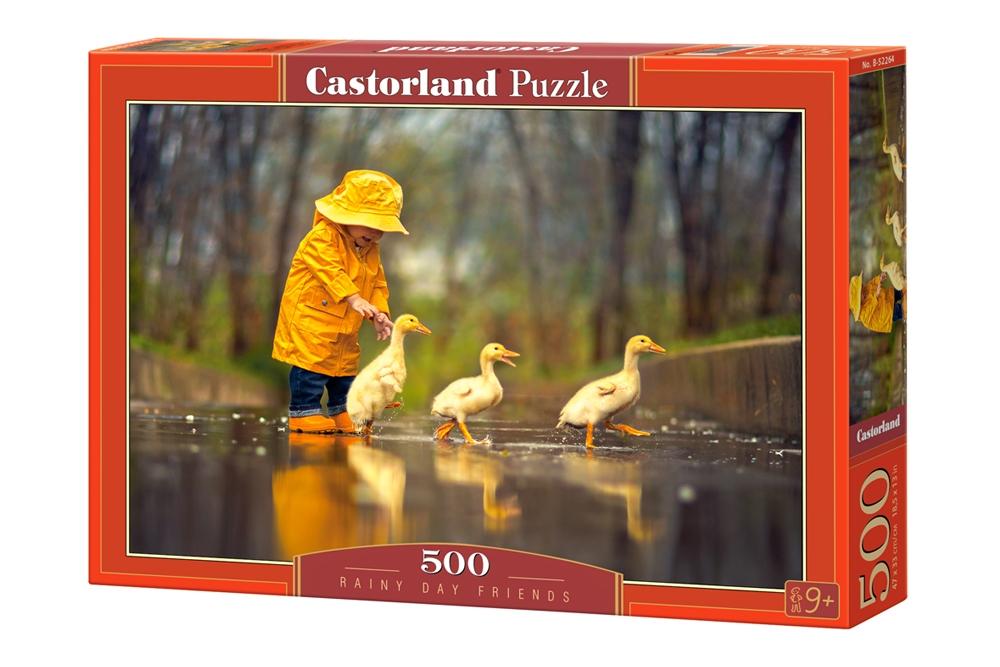 Puzzle Castorland Pequeños Amigos en la Lluvia de 500 Piezas