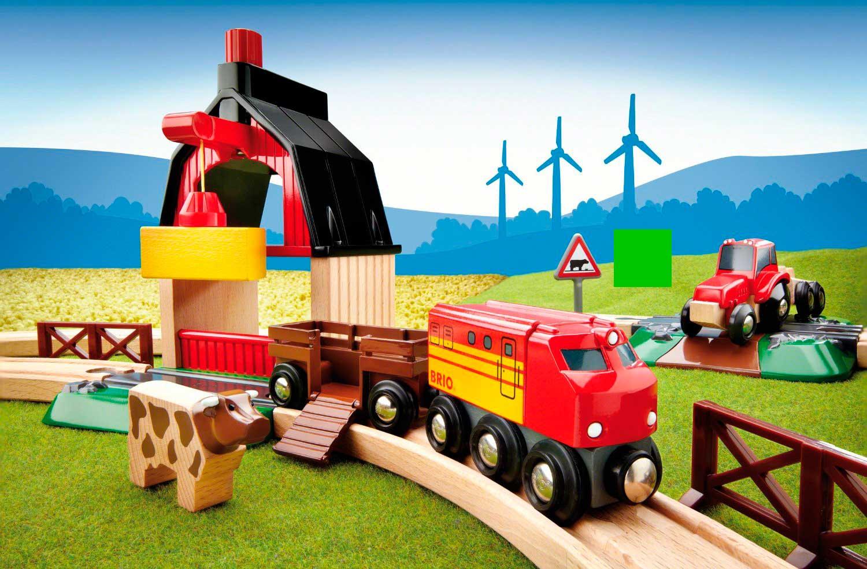 Juego de Construcción Brio Circuito Tren con Granja