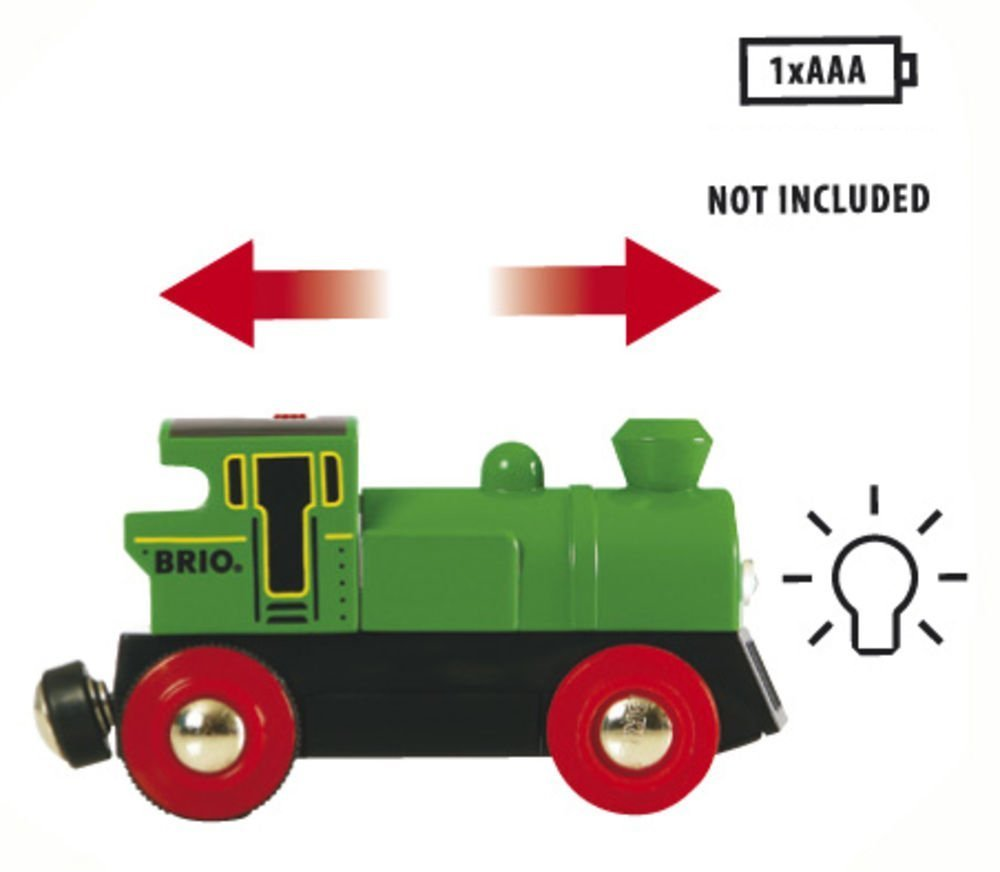 Juego de Construcción Brio Locomotora Verde a Pilas