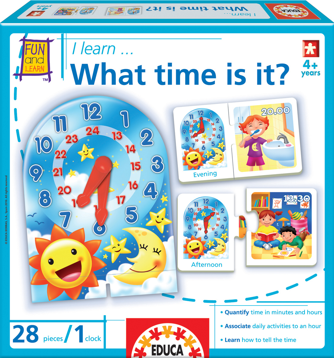 Juego Educativo Educa What Time Is it?