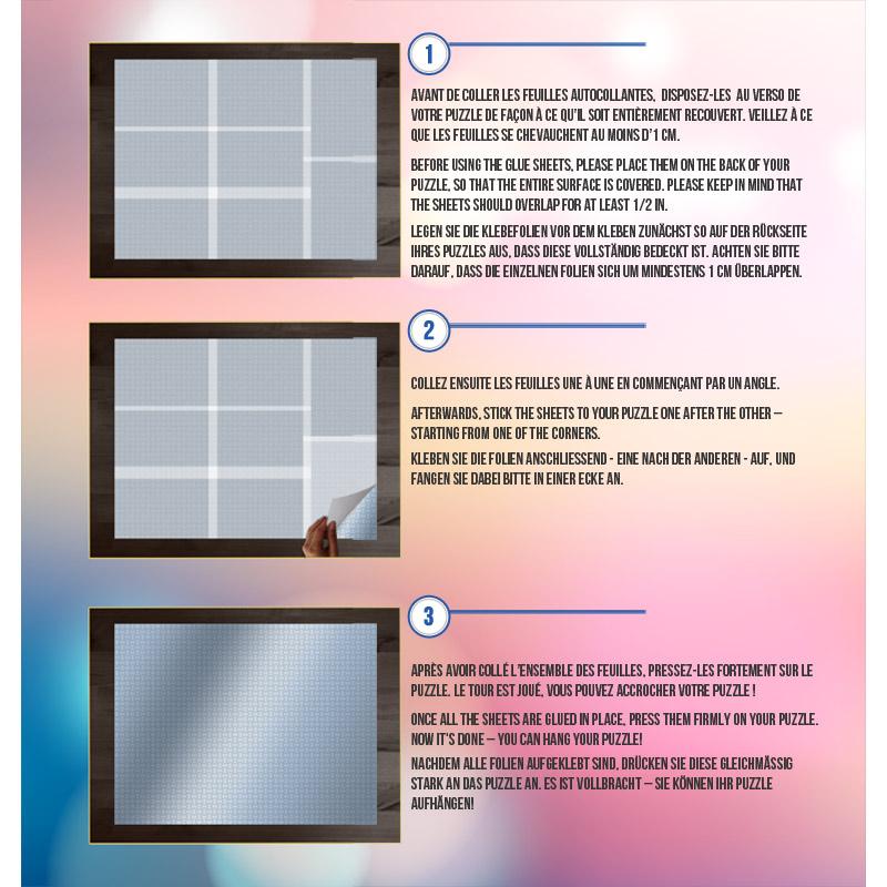Pegamento Puzzles Grafika Hojas Adhesivas Puzzles de 2000 Piezas