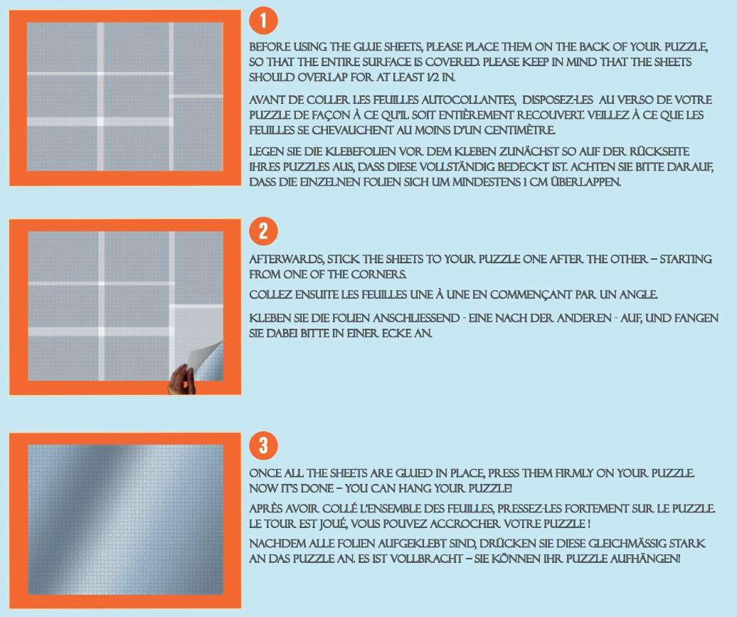 Pegamento Puzzles Grafika Hojas Adhesivas Puzzles de 1000 Piezas