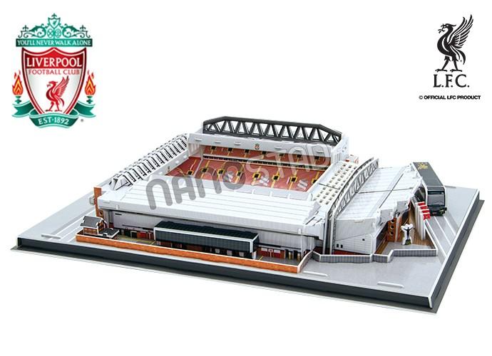 Puzzle 3D Nanostad Estadio Anfield, Liverpool FC de 165 Piezas