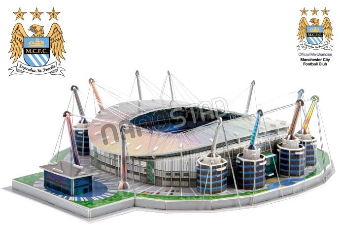 Puzzle 3D Nanostad Estadio Etihad, Manchester City de 139 Piezas