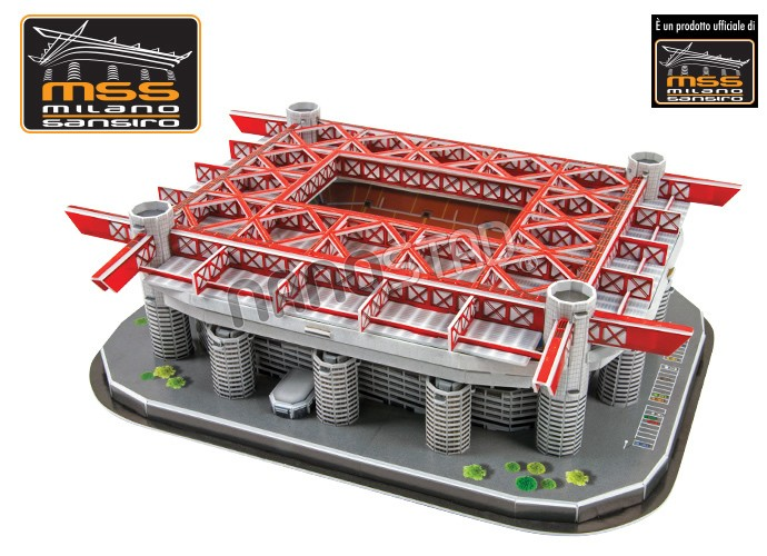 Puzzle 3D Nanostad Estadio San Siro, de 193 Piezas
