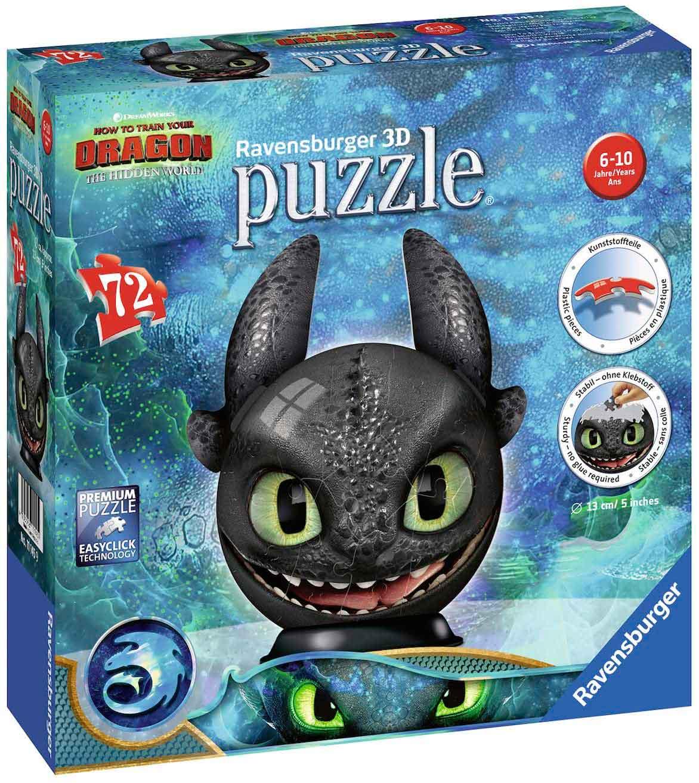 Puzzle 3D Ravensburger Desdentado Cómo Entrenar a Tu Dragón 72p