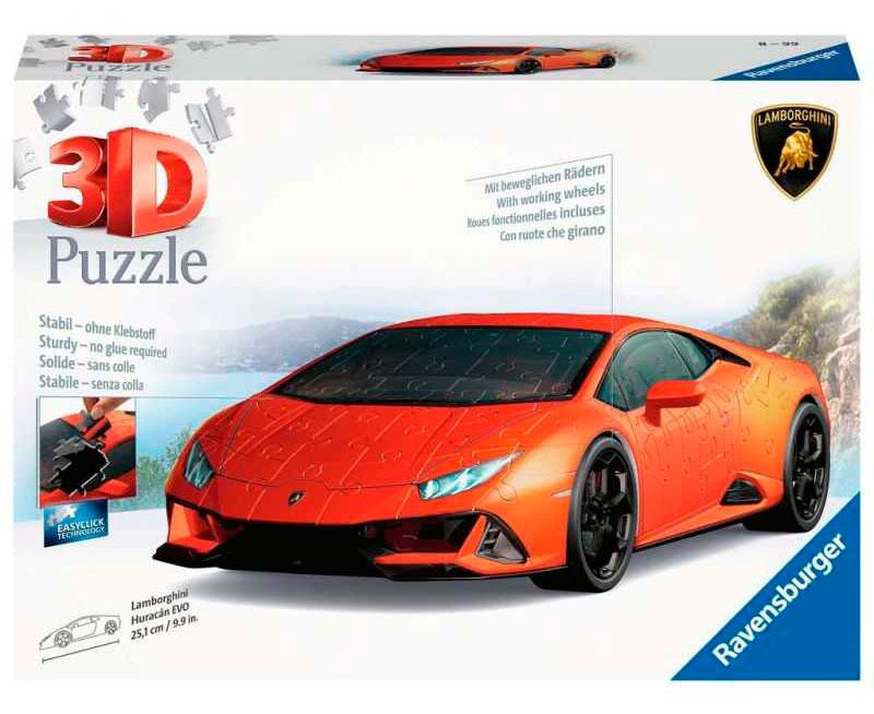 Puzzle 3D Ravensburger Lamborghini Huracan Evo 108 Pzs