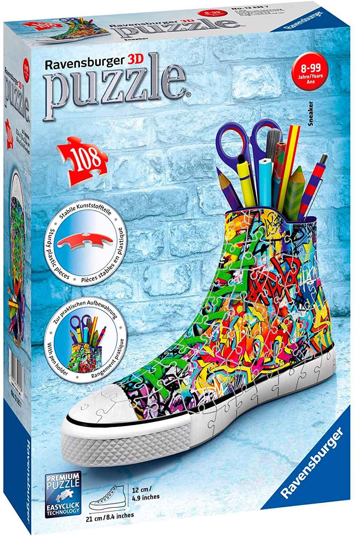 Puzzle 3D Ravensburger Sneaker Estilo Graffiti 108 Pzs