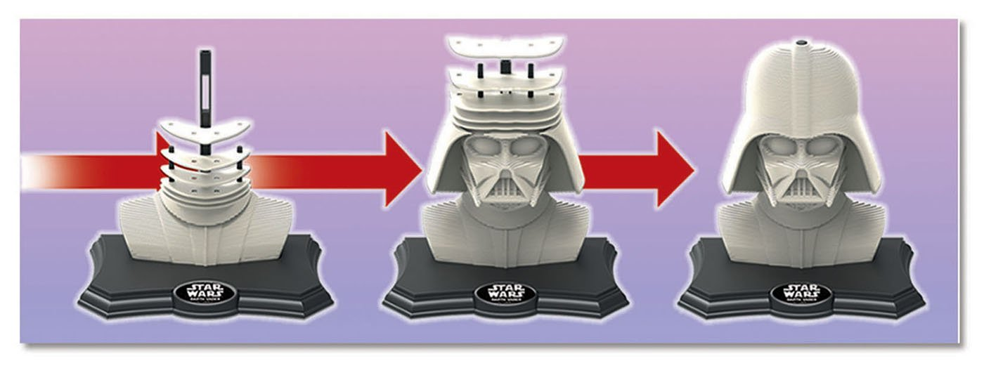 Puzzle 3D Sculpture Color Darth Vader de 160 Piezas