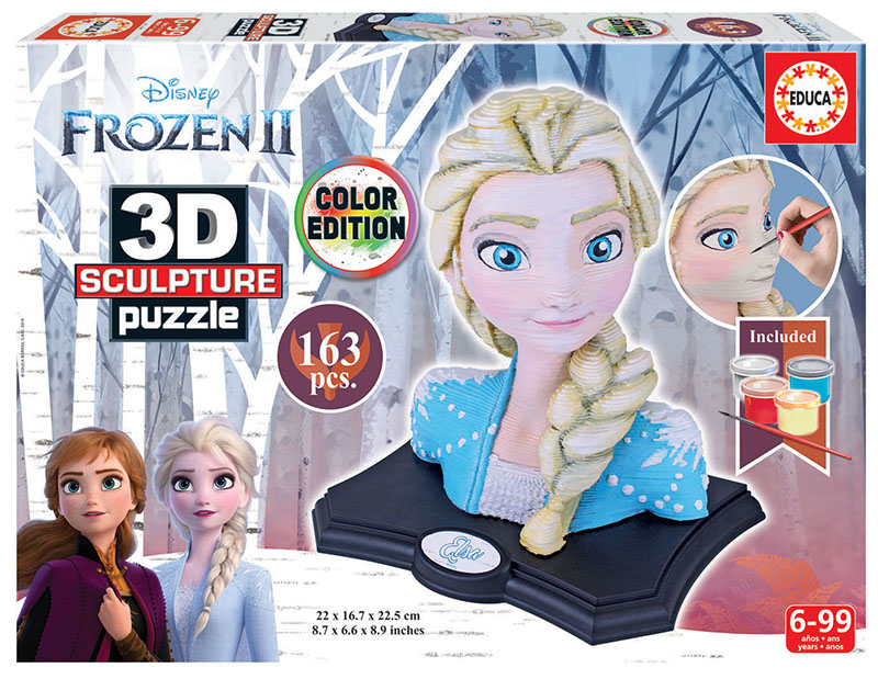 Puzzle 3D Sculpture Color Frozen 2 de 163 Piezas
