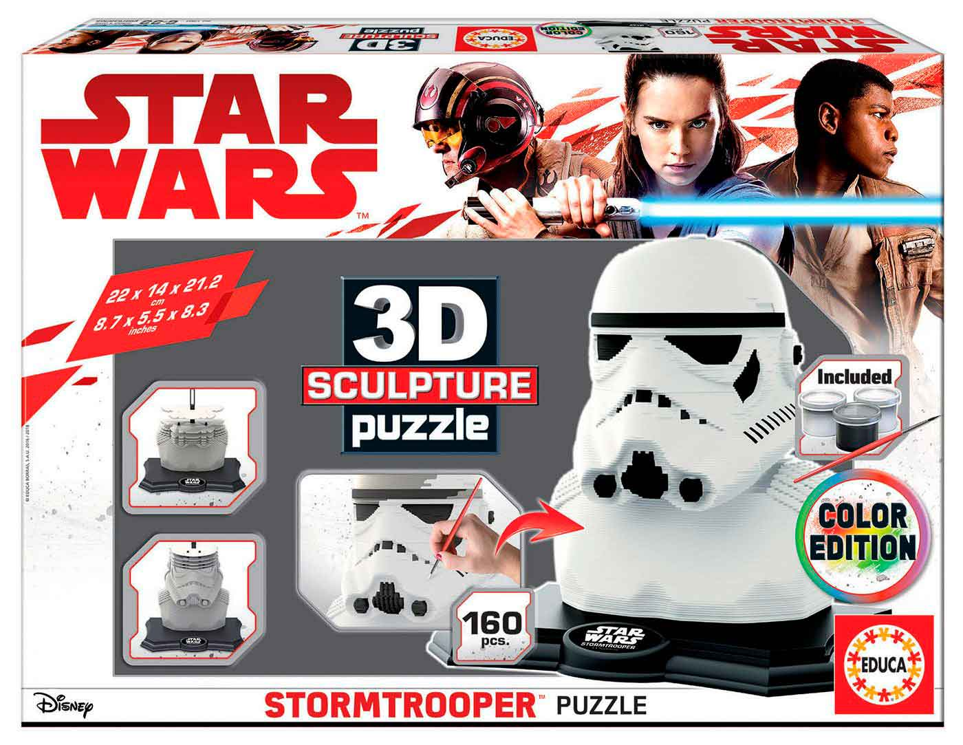 Puzzle 3D Sculpture Color Stormtrooper de 160 Piezas
