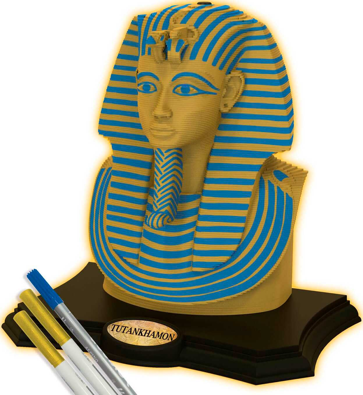 Puzzle 3D Sculpture Color Tutankhamon de 160 Piezas