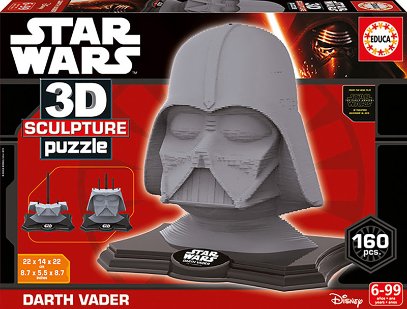 Puzzle 3D Sculpture Darth Wader Star Wars de 160 Piezas