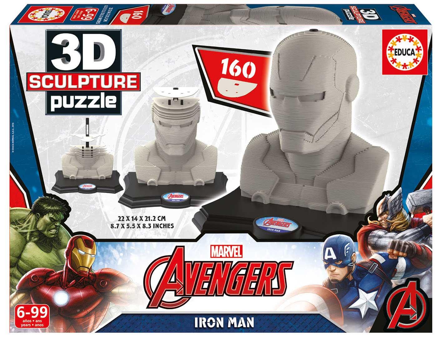 Puzzle 3D Sculpture Ironman de 160 Piezas