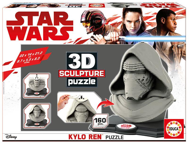 Puzzle 3D Sculpture Kylo Ren Star Wars de 160 Piezas