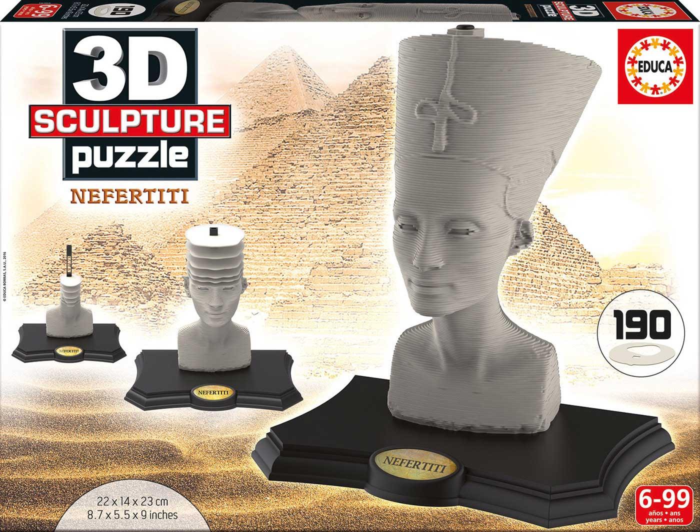 Puzzle 3D Sculpture Nefertiti de 190 Piezas