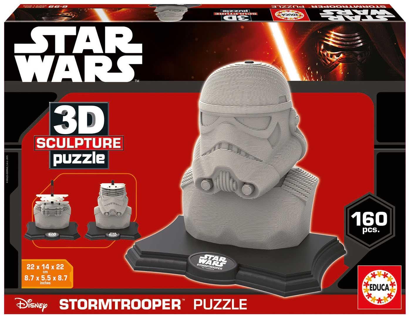 Puzzle 3D Sculpture Soldado de Asalto Star Wars de 160 Piezas