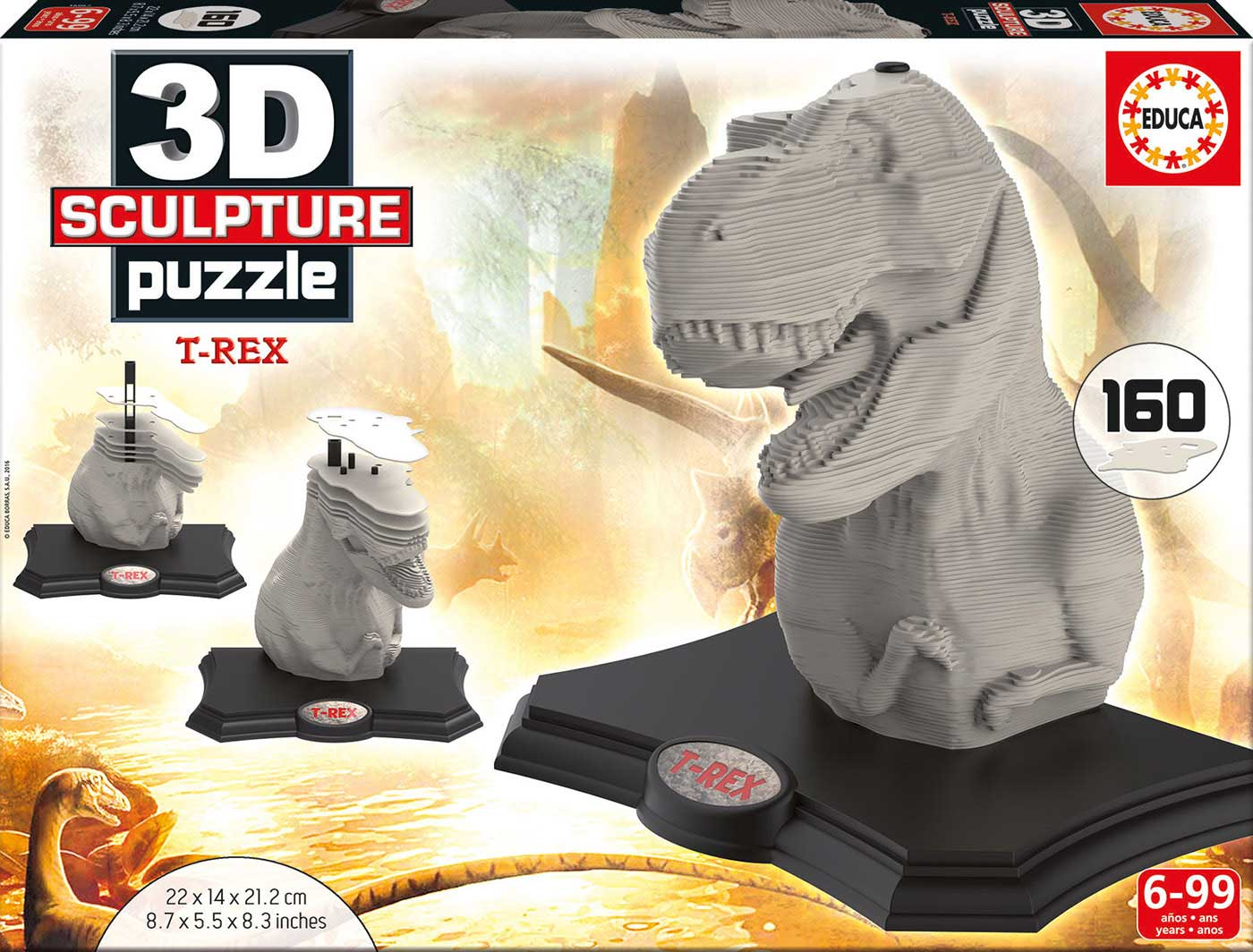 Puzzle 3D Sculpture Tiranosaurus Rex de 160 Piezas