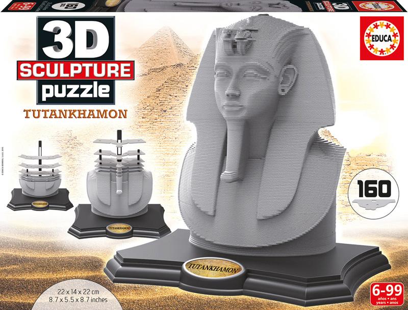 Puzzle 3D Sculpture Tutankhamon de 160 Piezas