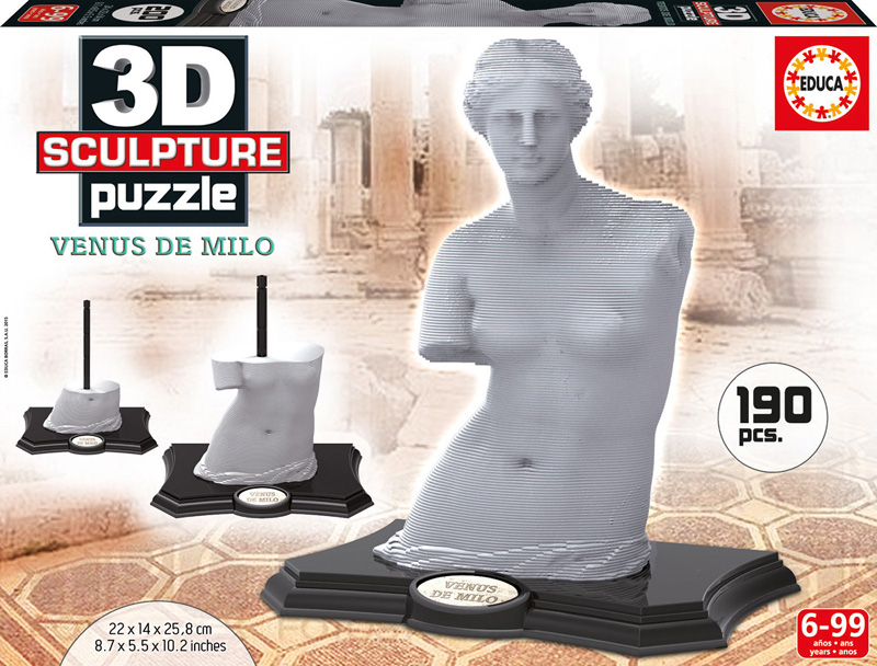 Puzzle 3D Sculpture Venus de Milo de 190 Piezas