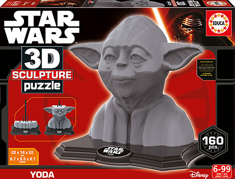 Puzzle 3D Sculpture Yoda Star Wars de 160 Piezas