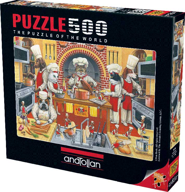 Puzzle Anatolian Animal Chef de 500 Piezas