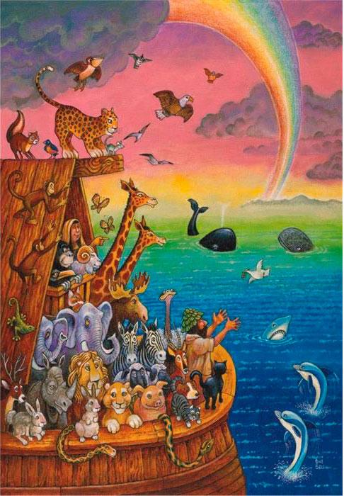 Puzzle Anatolian Arco Iris y el Arca de Noé de 260 Piezas