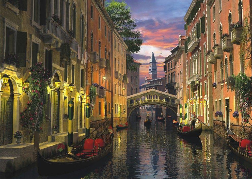 Puzzle Anatolian Atardecer en el Canal de Venecia de 3000 Piezas