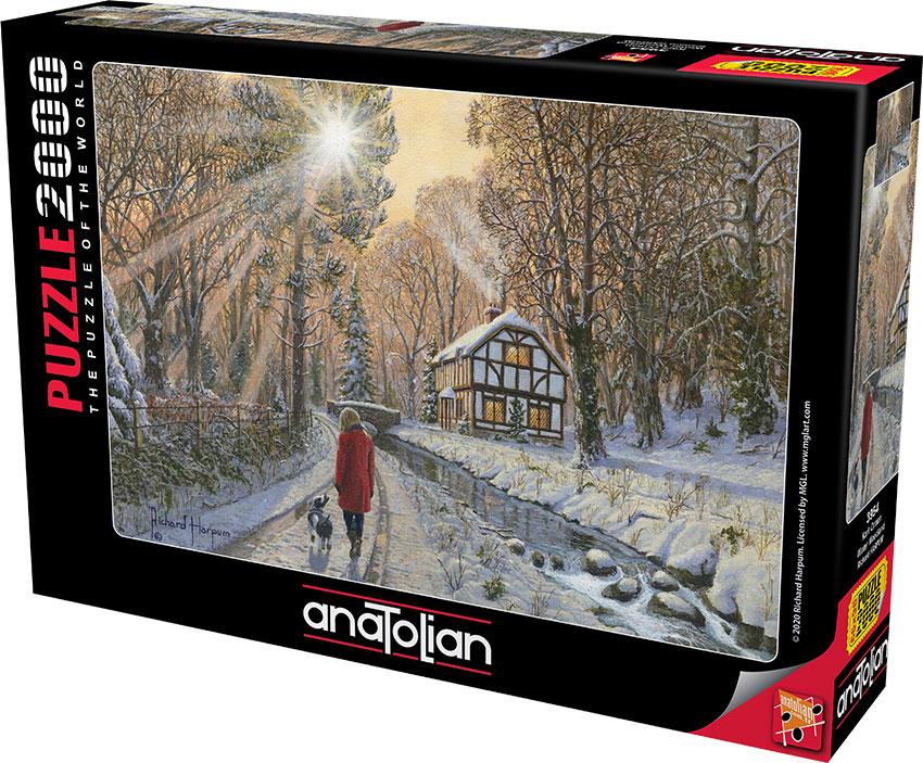 Puzzle Anatolian Bosque en Invierno de 2000 Piezas