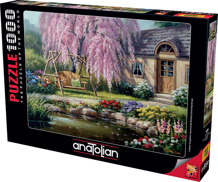 Puzzle Anatolian Cabaña de Flor de Cerezo de 1000 Piezas