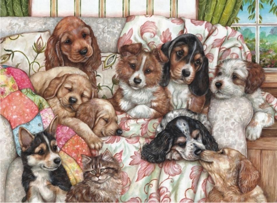 Puzzle Anatolian Cachorros de Perros de 1000 Piezas