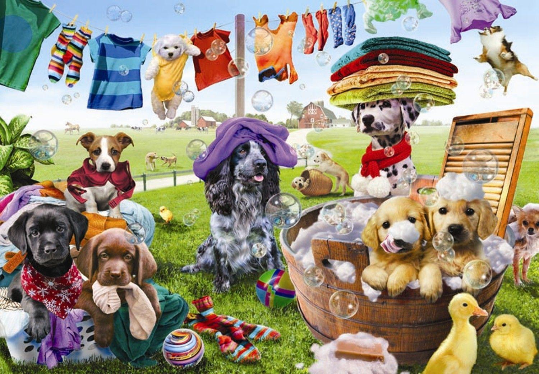Puzzle Anatolian Cachorros Jugando de 260 Piezas