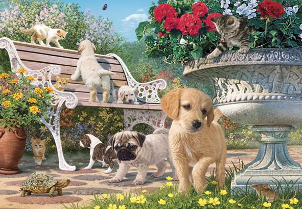 Puzzle Anatolian Cachorros Jugando al Escondite de 260 Piezas