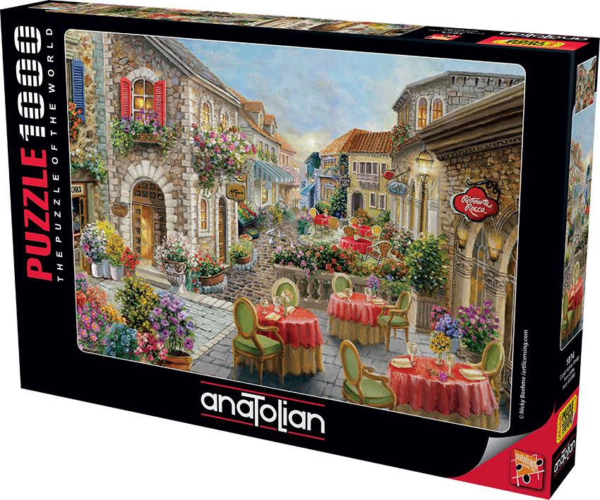 Puzzle Anatolian Café de las Flores de 1000 Piezas