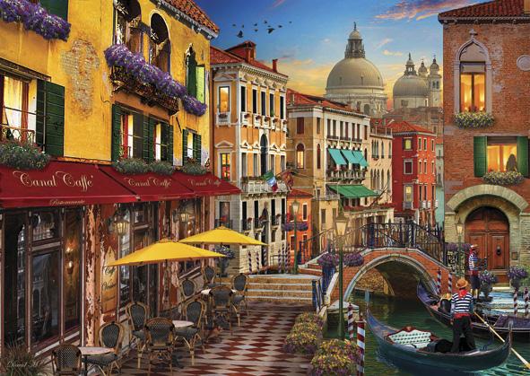 Puzzle Anatolian Café en el Canal de Venecia de 1500 Piezas