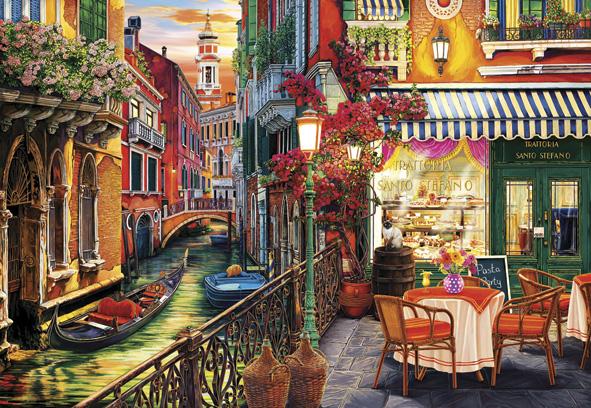 Puzzle Anatolian Café en Venecia de 2000 Piezas