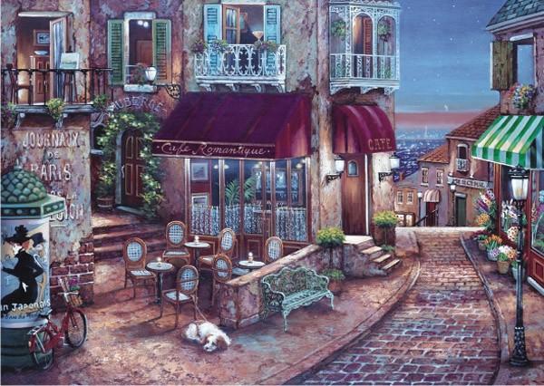 Puzzle Anatolian Café Romántico de 1500 Piezas