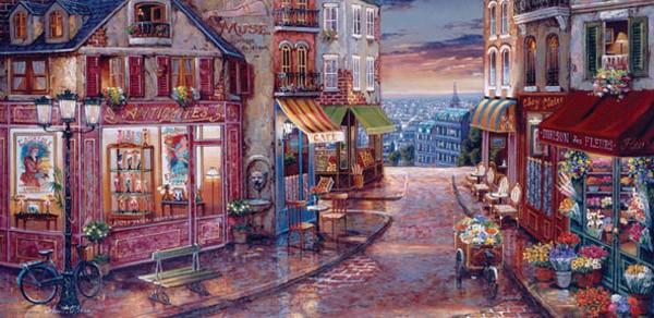 Puzzle Anatolian Calle Comercial de París de 1500 Piezas