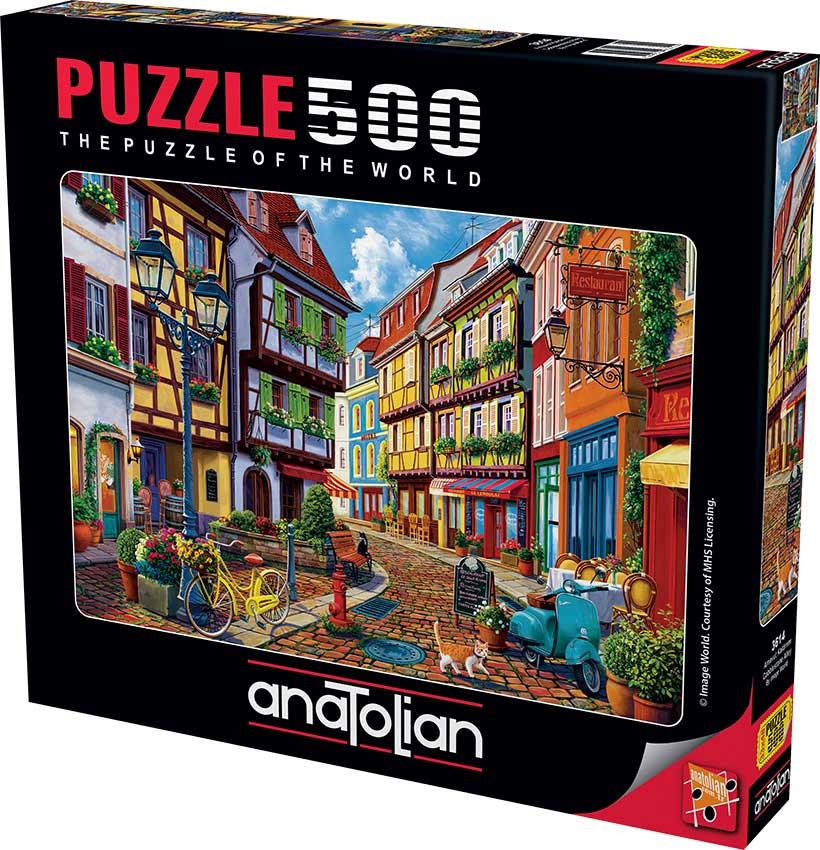 Puzzle Anatolian Callejón de Adoquines de 500 Piezas