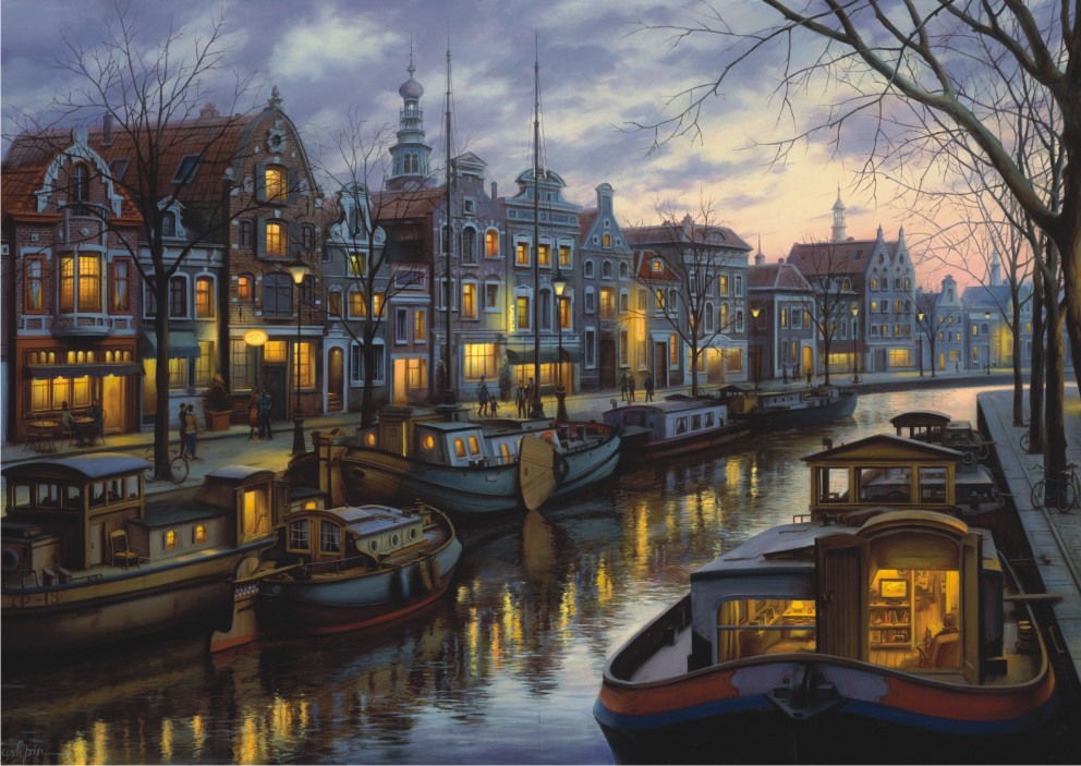 Puzzle Anatolian Canal de Amsterdam de 1500 Piezas