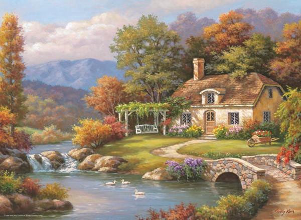 Puzzle Anatolian Casa de Campo en el Lago de 1000 Piezas